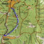Clabucetul Taurului - harta traseu