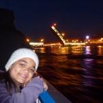 2. St Petersburg, Croaziera de noapte (spectacolul ridicarii podurilor basculante de pe Neva)