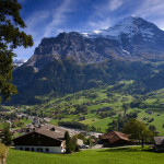 Grindelwald and Wetterhorn Mountain