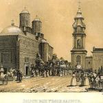 Jassy_(Iasi)-Trei_Ierarhi_Monastery_(J.Rey,_1845)