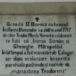 pisania manastirii Teodoreni